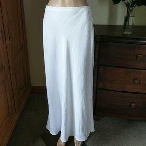 Dresses & Skirts - White linen long skirt. Size 6
